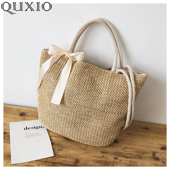2019 New Bohemian Summer Straw Bag Women Large Capacity Ladies Beach Bag Vacation Woven Bag For Female Casual Tote Bags PJL054