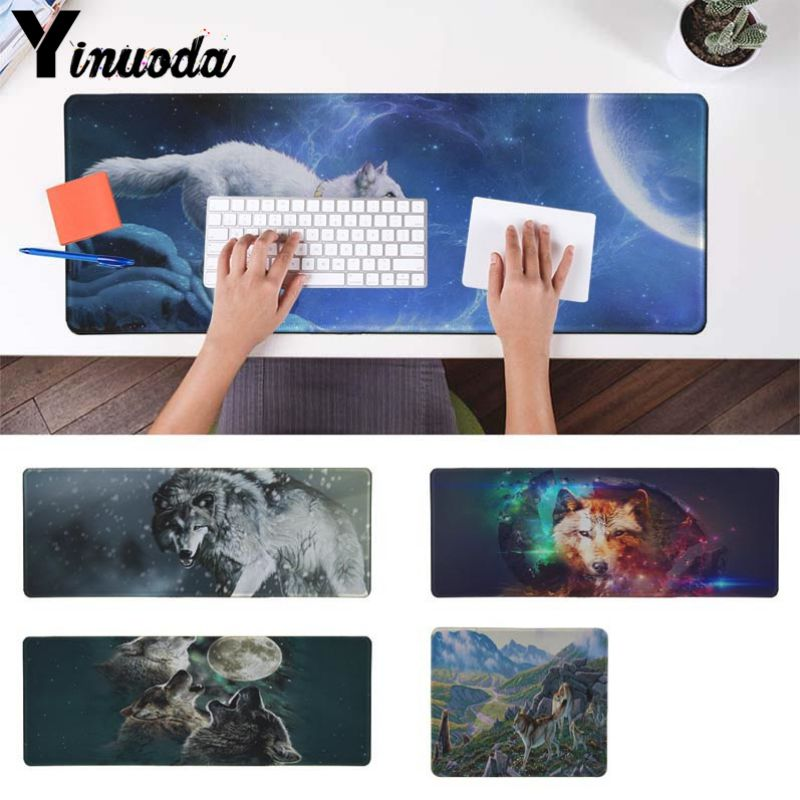 Yinuoda Non Slip PC Wolf and Bear Animal Customized laptop Gaming mouse pad Size for 18x22cm 20x25cm 25x29cm 30x90cm 40x90cm