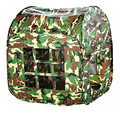 Zewik Kids Large Space Play Tent Children Game Two-Door House Tent toy Green Camouflage Pretend Army War Soldier