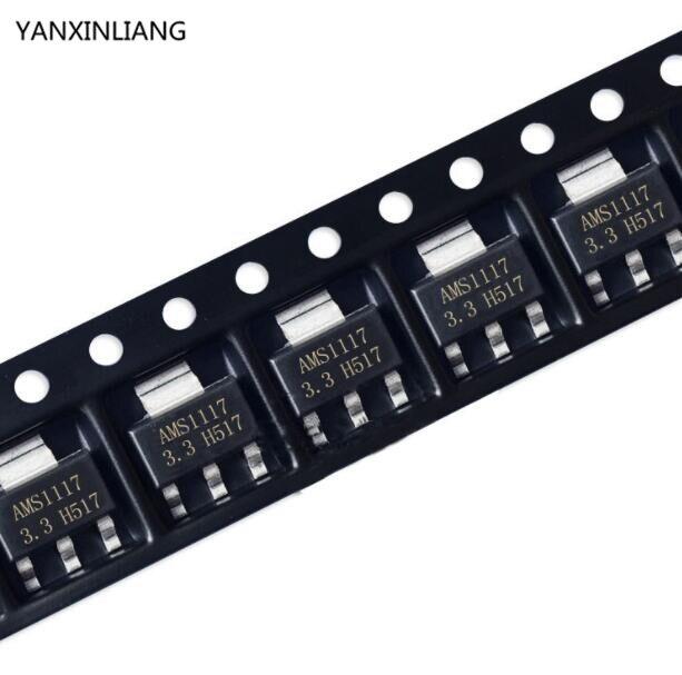 50 Pcs AMS1117-3.3V LM1117 1117 3.3V 1A Voltage Regulator AMS1117-3.3