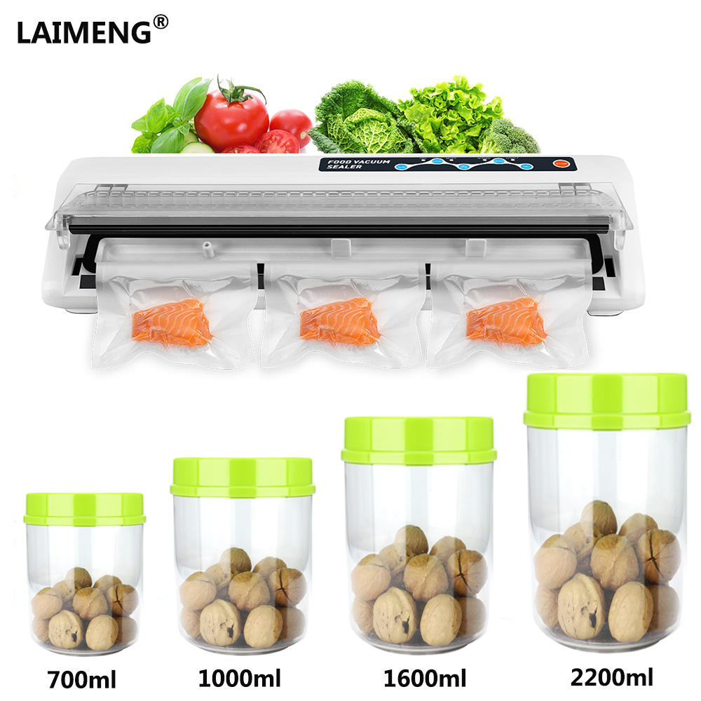 Laimeng Vacuum Sealer Food Vacuum Packing Machine 110V/220V with Food GradAS Vacuum Canister Sealing Bag Food Preservation S207Laimeng Vacuum Sealer Food Vacuum Packing Machine 110V/220V with Food GradAS Vacuum Canister Sealing Bag Food Preservation S207