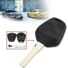 2 Botões de Bloqueio Tronco Carro Fob Chave Remoto Caso de Substituição Shell Para Porsche Boxster S 986 911 996