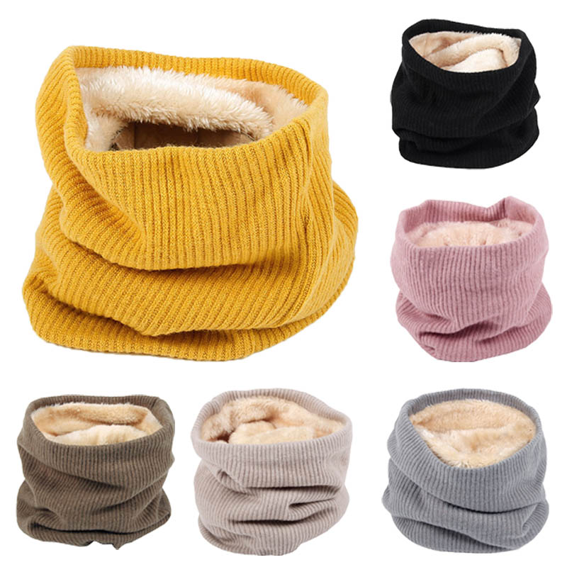 Girl's Accessories Hearty New Style Unisex Winter For Women Men Kids Baby Knitted Fashion Scarf Thickened Wool Collar Scarves Boys Girls Cotton Neck Scarf Cheap Sales
