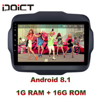 IDOICT Android 8.1 Car DVD Player GPS Navigation Multimedia For JEEP Renegade Radio 2016 2017 car stereo wifi
