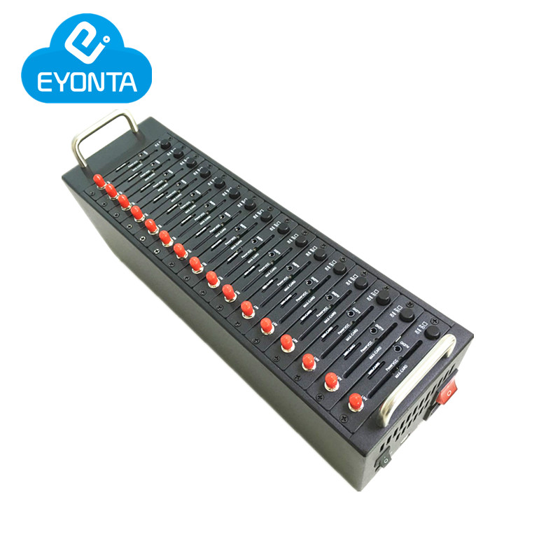 High Quality Quad Band Modem 16 ports gsm SMS wavecom modem pool M35 module Support Imei