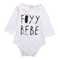 MACH Newborn Toddler Infant Baby Boy Girl Romper Jumpsuit Clothes Outfits , White , 0-3 Months