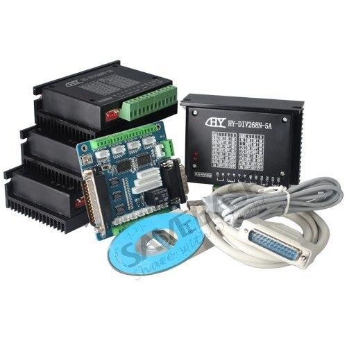TB6600HG Stepper Driver 5A 4 Axis CNC Kit For Nema17 Nema23 Nema34 Motor 4