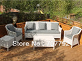 2016 New Garden Furniture White Colored Ratan 5 Piece Sofa Set