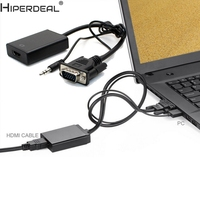 HIPERDEAL VGA To HDMI Output 1080P HD Audio TV AV HDTV Video Cable Converter Adapter Oct27