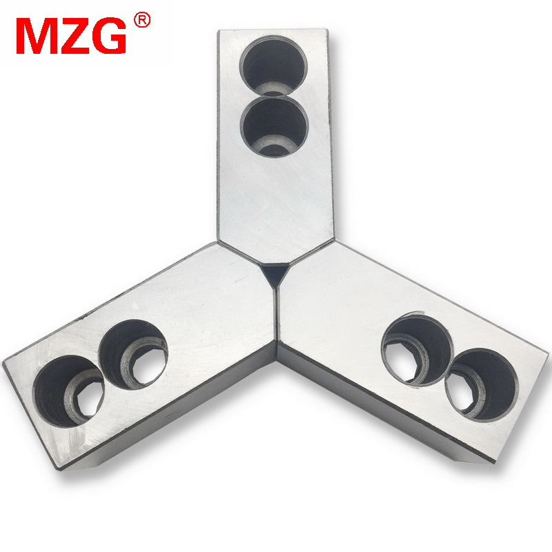 MZG 4 5 6 7 10 12 inch 120 Degree Standard Hollow Soft Jaw for CNC Lathe Chuck Machining Cutting Tool