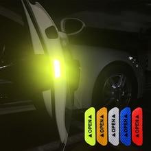 4Pcs/Set Car Door Open Warning Reflective Stickers Nighttime