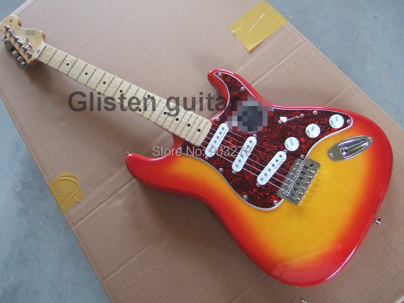 New sunburst ST Electric Guitar st028, maple neck, maple fingerboard стоимость