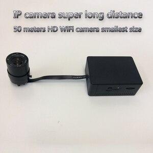 Câmera IP de longa distância 50 M HD super mini camera gravação em tempo real