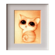 5d diy diamond embroidery lovely cat diamond painting mosaic beadwork pictures Rhinestones cross stitch for living room ZS079