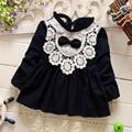 new 2016 spring autumn lace patchwork baby girls dress fashion princess dresses for newborn clothes suit4~13 month infants dress