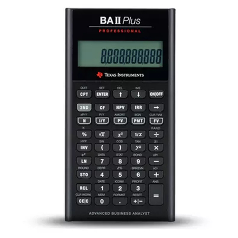 2018 Ti BAII Plus Professional CFA 10-siffror Ledande beräkningsmätare Calculadora Financial Calculations Elements Financial Calculator
