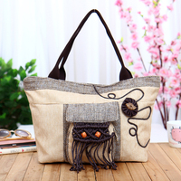 New Coming Appliques Handbags Fashion Women Characters Small Bags Hot Shopping Lady S Casual Carry Bag