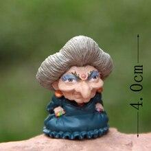 4 cm 1 piezas lindo Miyazaki Hayao Ghibli Yubaba Chihiro figuras Juguetes DIY resina figura de acción muñeca colección modelo de juguete