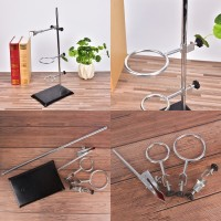 1Set 50CM High Retort Stand Iron Stand With Clamp Clip Laboratory Ring Stand School Education Supplies Educational Equipment