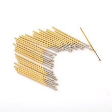 P100-G2 Length 33.35mm Flat Metal Spring Test Probe Nickel Plated Detection Gold Tool For Detecting Circuit Boards