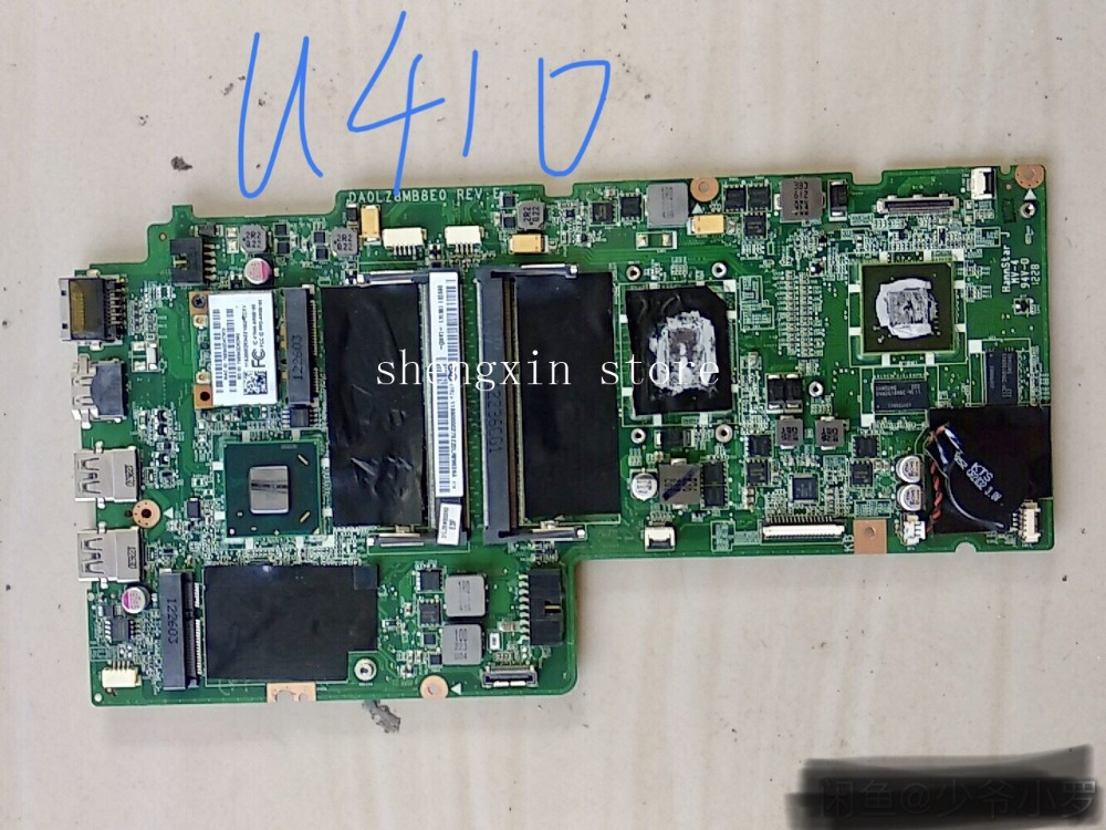 For Lenovo Ideapad U410 Laptop Motherboard DA0LZ8MB8E0 REV:E I3 CPU Fully Test