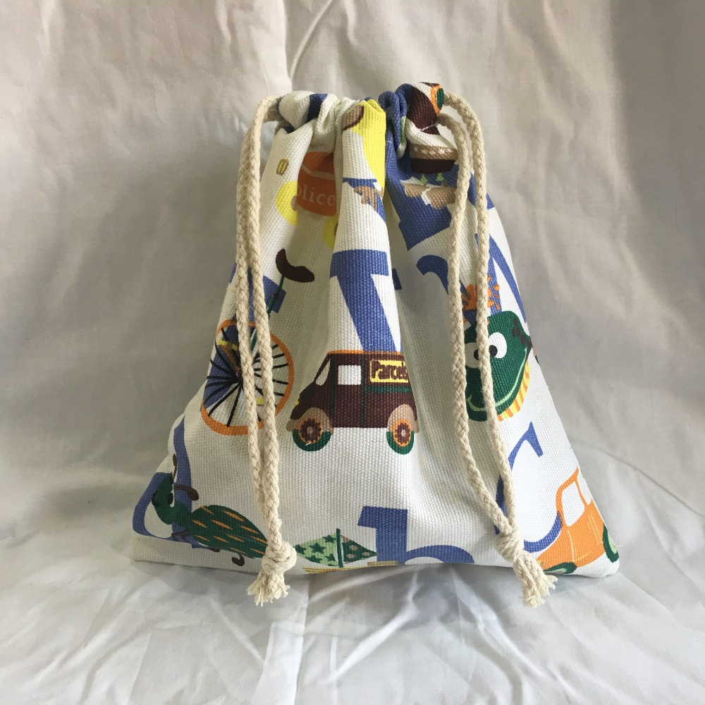 YILE 22x20cm Drawstring Organization Pouch Party Gift Bag Print Alphabet Animal 9214b