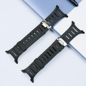 Image 3 - Аксессуары для мужских резиновых ремней серии T для SUUNTO T1 T1C T3 T3C T3D T4C T4D, водонепроницаемый и защищенный от пота силиконовый ремешок