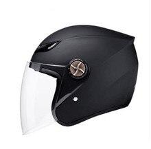 Companheiro preto Capacete Da Motocicleta Metade do Rosto Aberto Capacetes de Proteção Tamanho Ajustável Cabeça Da Engrenagem Unisex Preto Vermelho Mais Novo modelo capacete