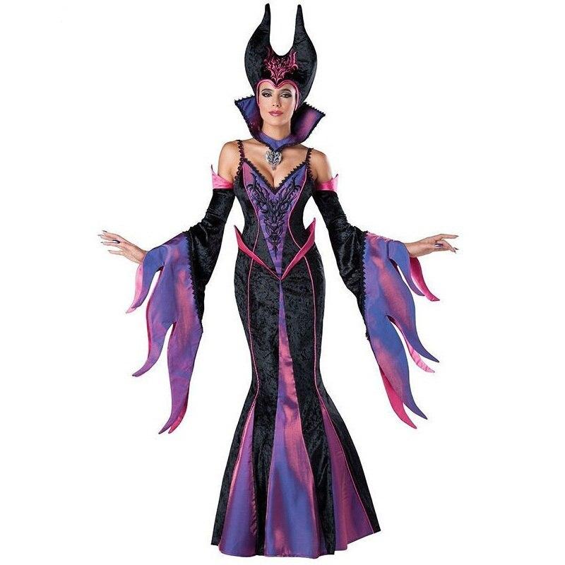 hot sale in character maleficent costume adult dark sorceress womens halloween evil queen fancy dress costume disfraces w159341