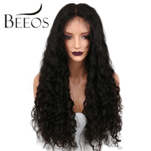 BEEOS 150 Density Pre Plucked Full Lace Human Hair Wigs Kinky Curly Brazilian Non Remy Lace Wigs With Baby Hair Bleacked Knots