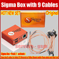 100% Original Sigma Box with 9Cables Set + Sigma Pack 2 Activation for Huawei Zte for Motorola
