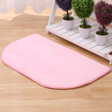 Thicker Slow Rebound Memory Cotton Mats Semi Round Carpet Home Pad Door Rugs Bathroom Kids Room