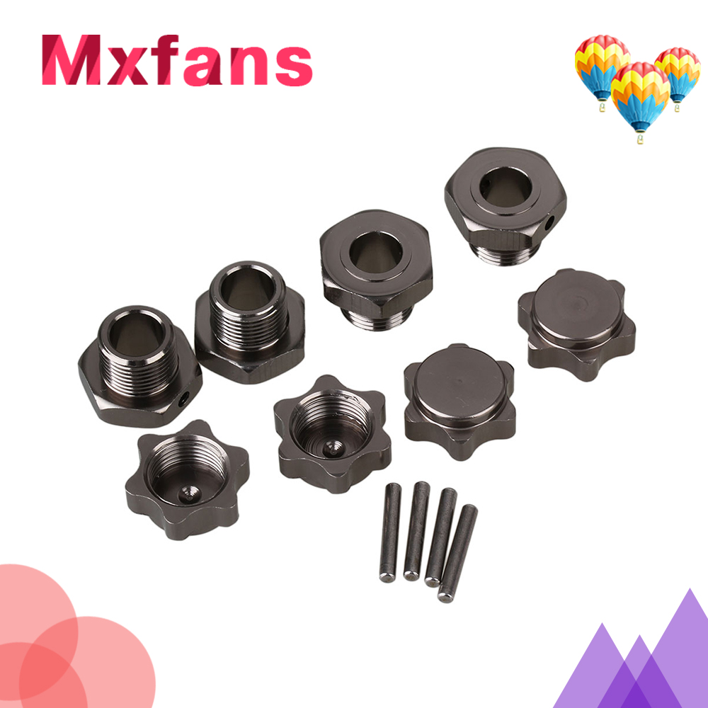 Mxfans 4pcs Titanium Wheel 17mm Hex Hub Nut Pin Alloy for RC 1:8 Buggy Upgrade T10060 mxfans green upgrade 12mm dia t10122 rc1 8 buggy wheel hex mount kit 12pcs in one set