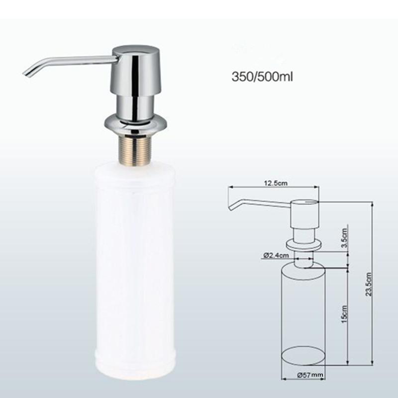 Wholesale Promotion High Quality Round Shape Chrome Solid Brass Kitchen Sink Soap Dispenser