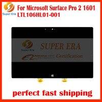 Nowy Marka LED Wyświetlacz LCD dla Microsoft Surface Pro 2 1601 LTL106HL01-001 Tablet Ekran LCD digitizer montaż panelu LED