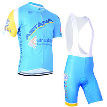 cycling jersey 2016 pro team ASTANA cycling Short sleeve jersey high quality bib shorts sets ropa ciclismo hombre Outdoor Sport