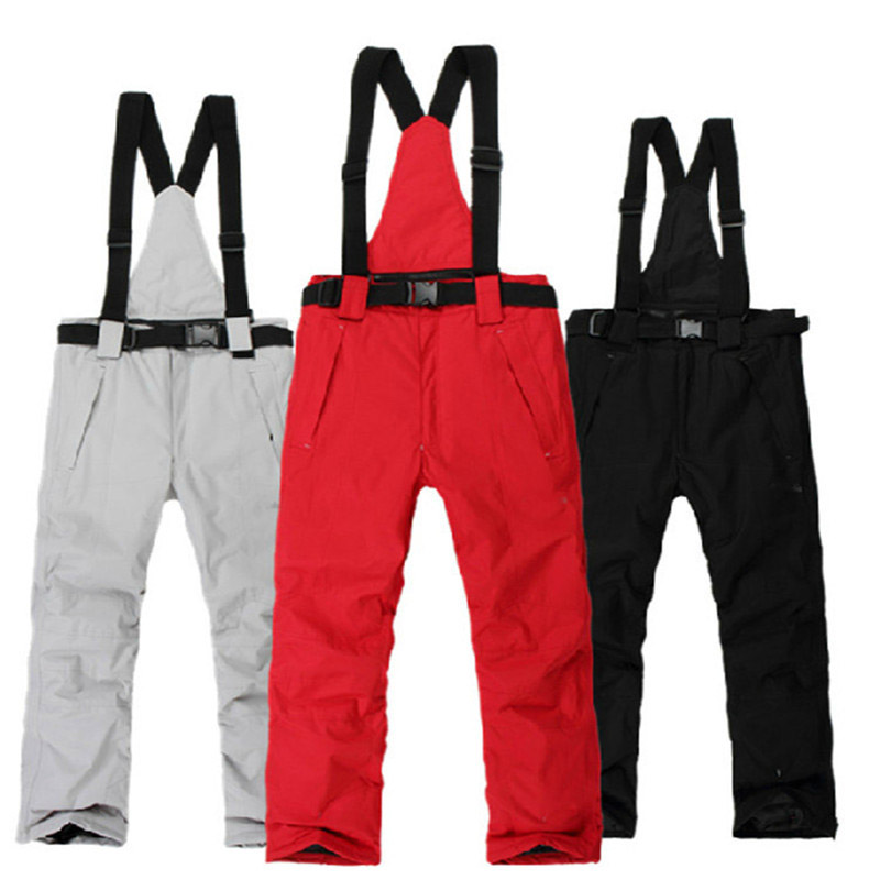 Big MEN Bib Outdoor Sports Skiing Pants 10K Waterproof and windproof Snowboarding Trousers -30 winter warm Snow Suspenders Pants ...