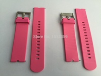 2pcs Lot 22mm Watch Band Rubber Band For Moto360 Smart Watch Moto 360 Rubber Band Pink
