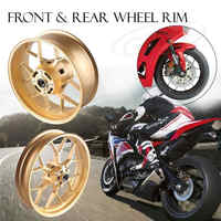 For Honda CBR1000RR Front Rear Set Wheel Rim 2012 2013 2014 2015 2016 2017 CBR1000 RR Gold Aluminum Motorcycle Part High Quality