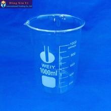 1000 мл низкая форма стакан из боросиликатного стекла для химической лаборатории прозрачный стакан утолщенный с носиком 1 шт