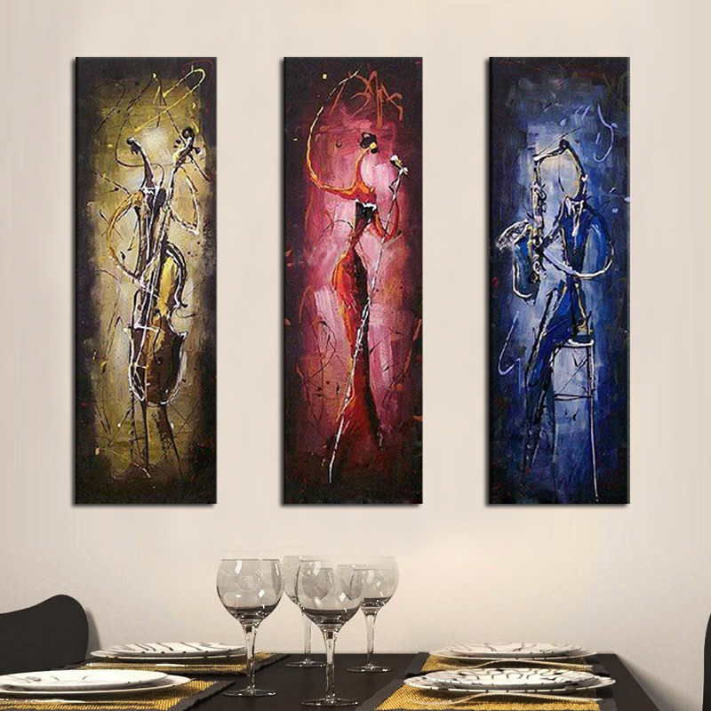 Music Singer oil painting100% hand painted for living room decoration painting framed or not