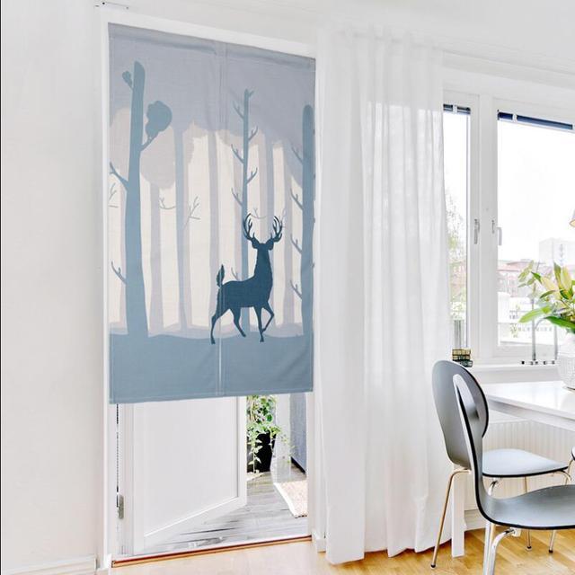 Nice Children Room Divider Kitchen small short door curtains cartoon