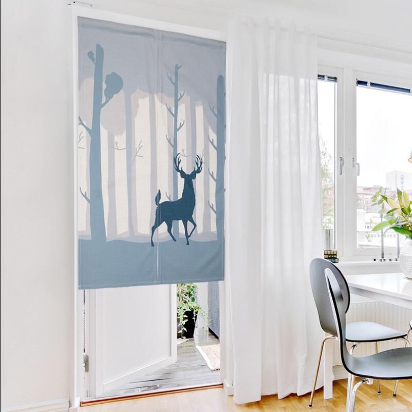 Nice Children Room Divider Kitchen small short door curtains cartoon Window treatments rod pocket Printed Short curtains #30