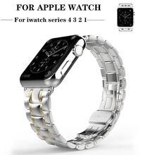 Ремешок из нержавеющей стали для apple watch band 4 44/40 мм