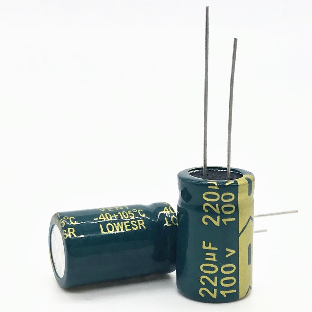 2pcs/lot High Frequency Low Impedance 100V 220UF 13*20 20% RADIAL Aluminum Electrolytic Capacitor 220000nf 20%