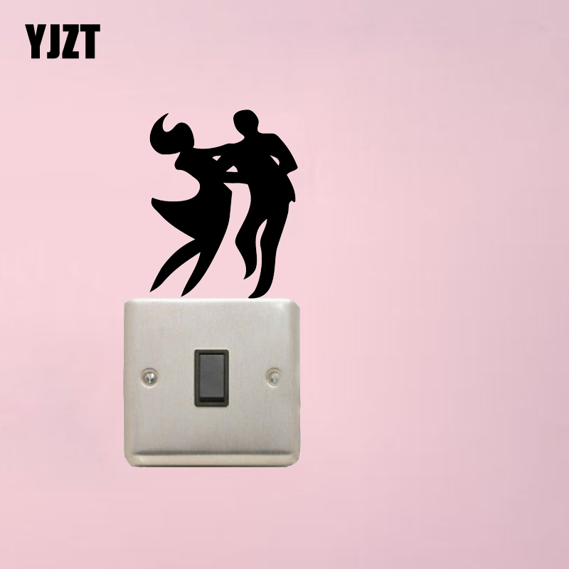 Couple Dancing Fashion Bedroom Vinyl Wall Decal Switch Sticker Decor 7SS0575
