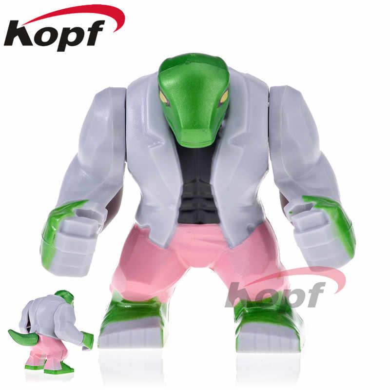 Venta única superhéroes figuras de lagartijas gigante Venom escorpión hijo de Hulk bloques de construcción juguetes para niños regalo PG1806