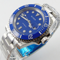 Bliger 40mm blue dial date black Ceramics Bezel  saphire glass Automatic movement Men's watch
