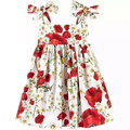 Girls Summer Dress Kids Clothes 2016 Italy Brand Children Dress Princess Flowers Print Pattern Baby Girls Dresses for Party Q80