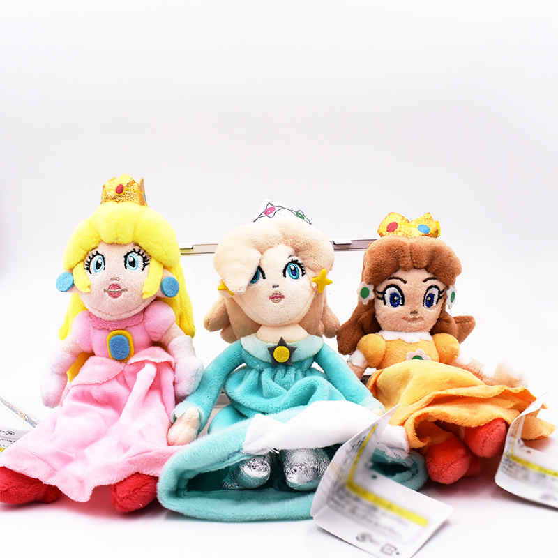 3Pcs/Set Super Mario Bros Plush Princess Peach Daisy Rosalina 20cm Soft Doll Cute Xmas Gifts Cute Girl Plush Toys Free Shipping